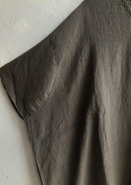Black Crane V-Neck Dress - Gray/Black