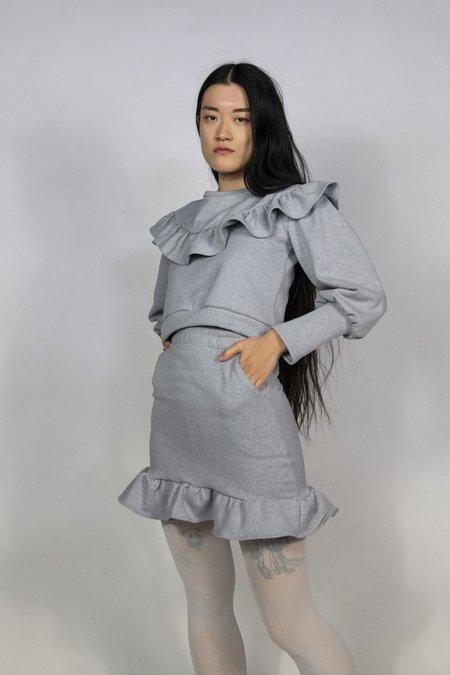 Rightful Owner Fleece Mini Skirt - Grey