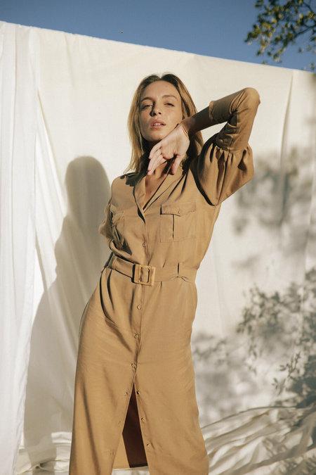 SIZ Tencel GUINEAN DRESS - Beige