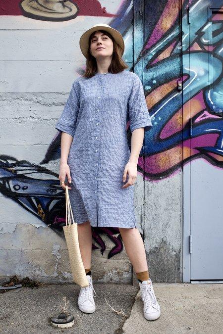 Pietsie Yucca Dress - Blue Pinstripe