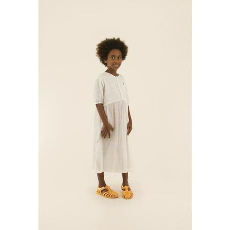 Kids Tinycottons Speckles Puff Dress - Off White