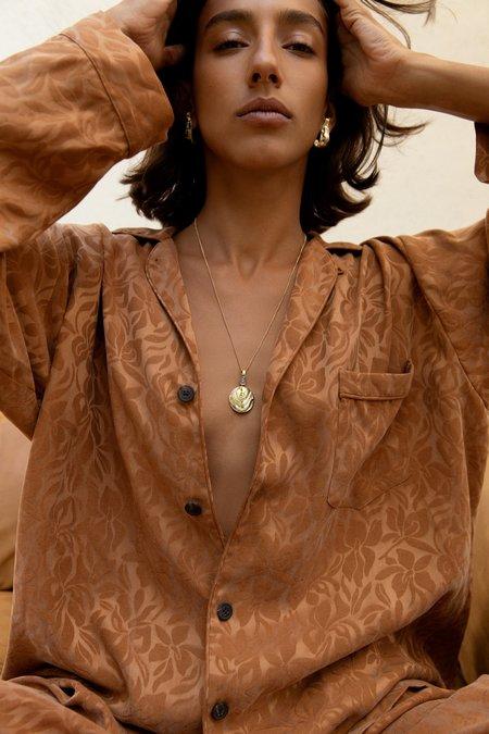 Leigh Miller Basalt Medallion necklace - Brass