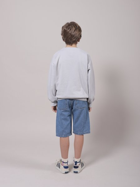 kids Bobo Choses Bird & Dog Denim Bermuda shorts - Swedish Blue