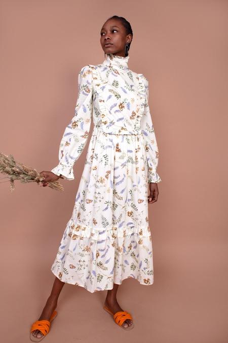 Meadows Lupin Spring Haze Dress - Cream