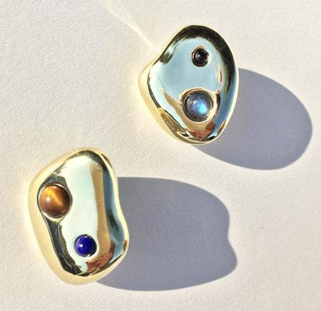 Leigh Miller Multistone Pebble Earrings