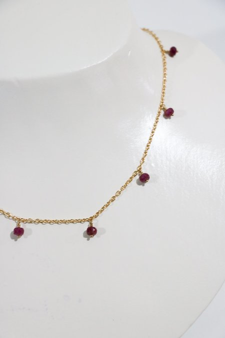 [Pre-loved] Perlina Shaker Necklace - Sapphire
