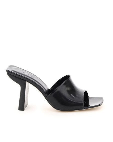 BY FAR Liliana Leather Sandals - Black