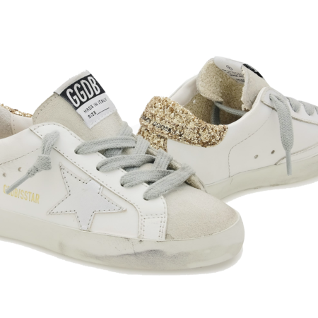 kids Golden Goose Superstar Gold Glitter Heel Tab GJF00102-F000980-10479 sneakers - white/gold