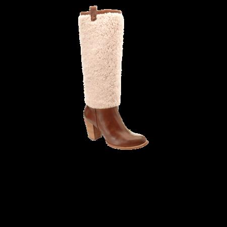 Ugg women Ava Exposed Fur 1013677-CNAT boots - Chestnut/Natural