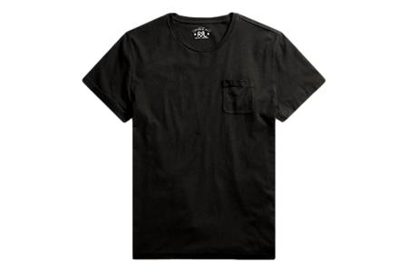 RRL Cotton Jersey Pocket T-Shirt - Faded Black Canvas