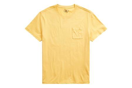 RRL Garment-Dyed Pocket T-Shirt - Vintage Gold