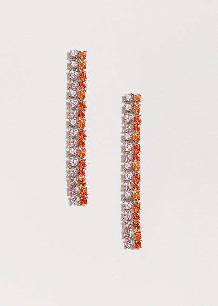 Jasmin Sparrow Peach Earrings - Silver