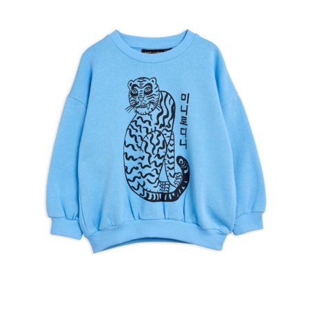 kids Mini Rodini Tiger Sweatshirt - Blue