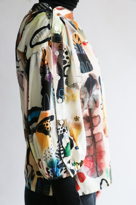[Pre-loved] Rachel Comey Cotton-Blend Blouse - Watercolor Print