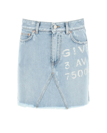 Givenchy Logo Denim Mini Skirt