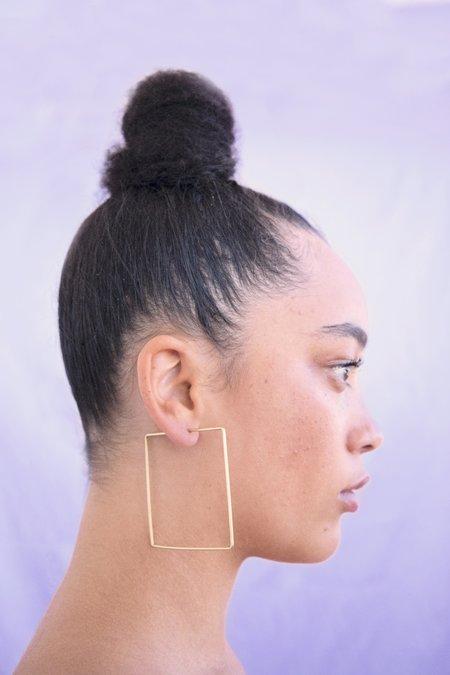 Essie Day Square Hoop Earrings
