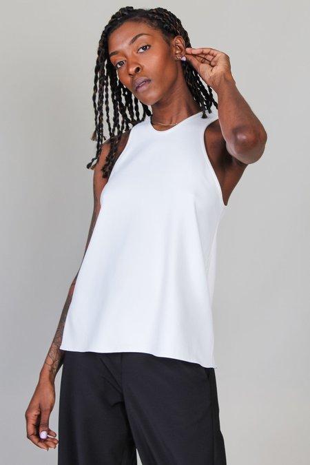 Tibi Chalky Drape Tank - White
