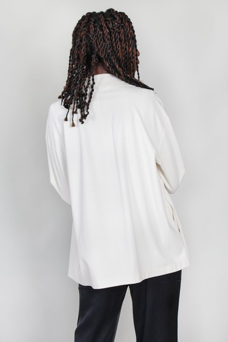 Harris Wharf London Dropped Shoulder Double Breasted Jacket - Ivory