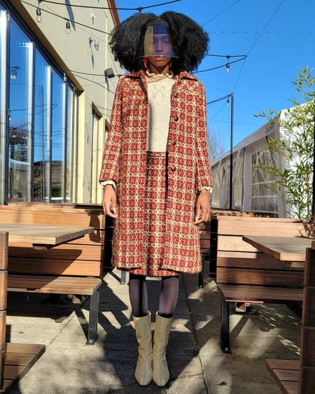Vintage Alberta Ferretti Plaid Coat Set