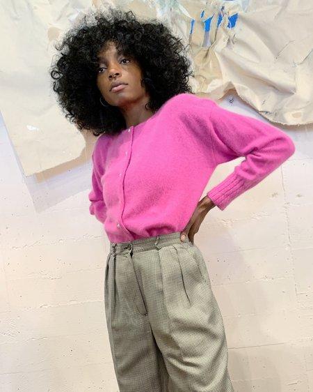 Vintage Spring Rose Angora Sweater