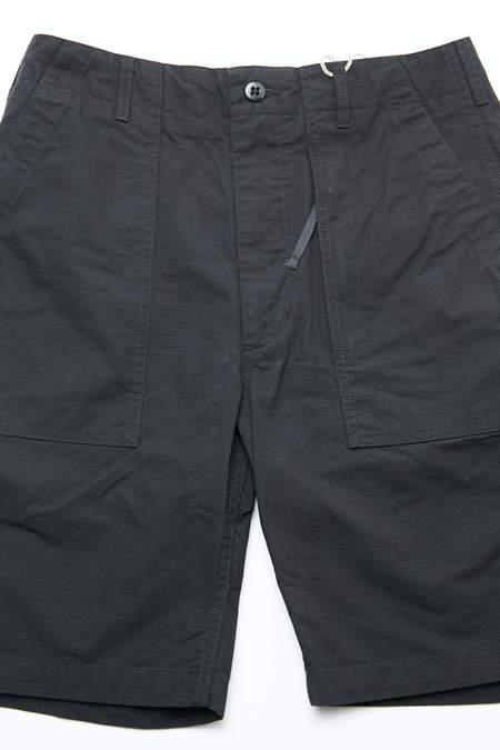 Engineered Garments Cotton Ripstop Fatigue Short - Black