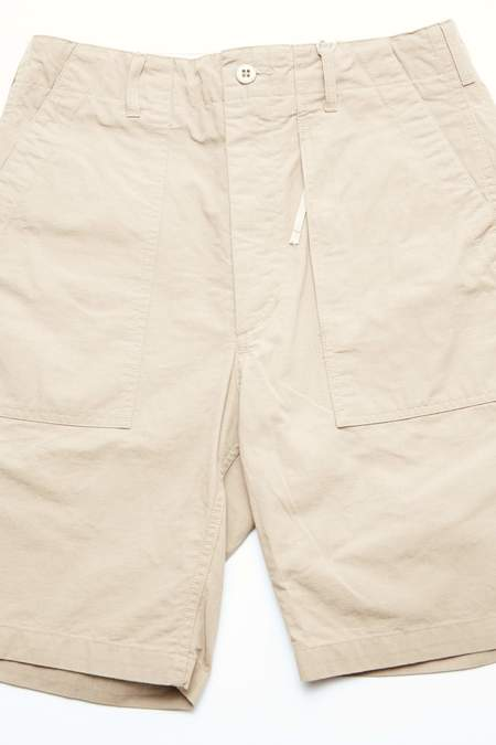 Engineered Garments Cotton Ripstop Fatigue Short - Khaki
