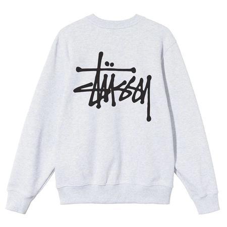 Stussy Basic Stussy Crew sweater - ash Heather