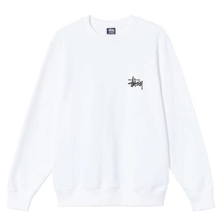 Stussy Basic Crew - White