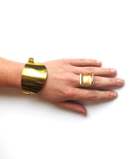 Erin Considine Ellipse Cuff in Brass