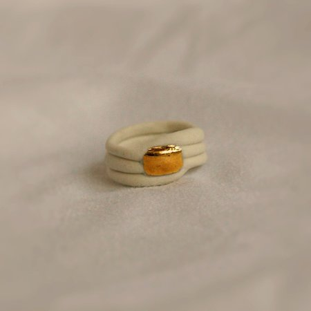 Siica Bague Caracol - Porcelaine Blanche