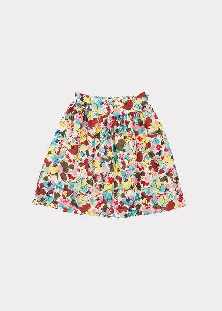 Kids Caramel Flounder Skirt - Painted Flower