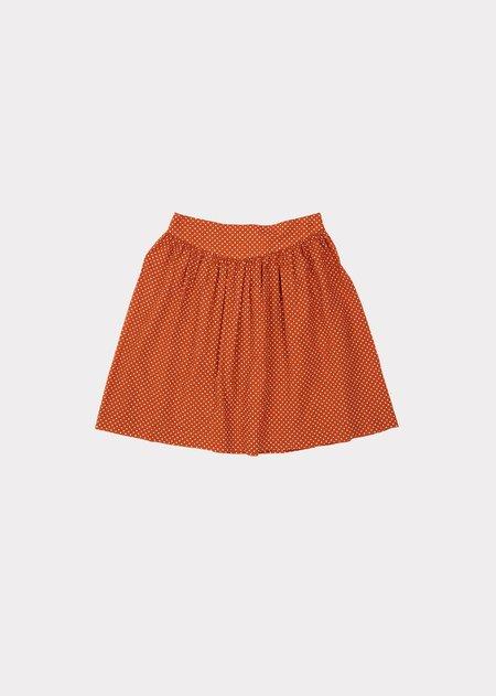 Kids Caramel Flounder Skirt - Rust Dot