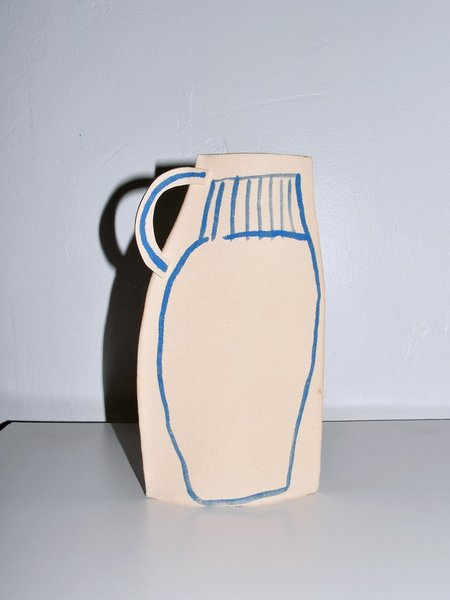 Alison Owen Delft Blue Pitcher - natural/blue
