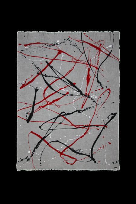 Faliero Sarti Arlock Scarf - Grey Splatter Print