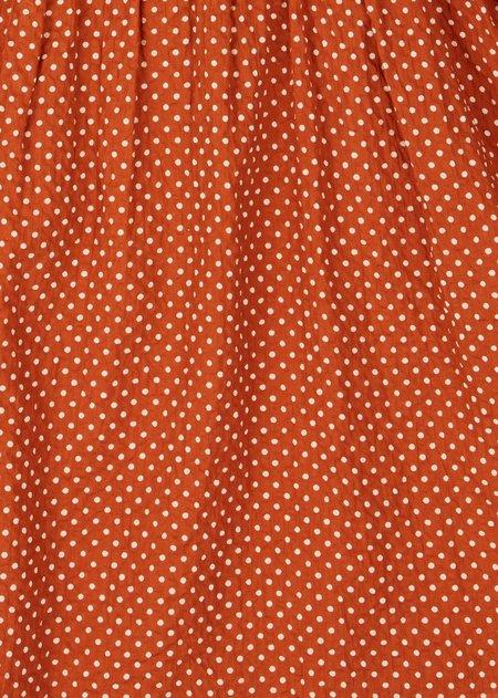 kids caramel Marlin Baby Sunhat - Rust Dot