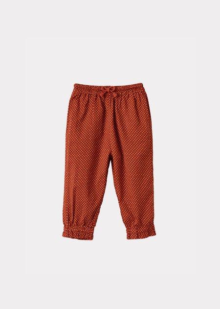 kids Caramel Shrimp Trousers - Rust Dot