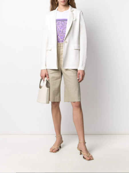 Harris Wharf London Tailored Linen Blazer - Off White