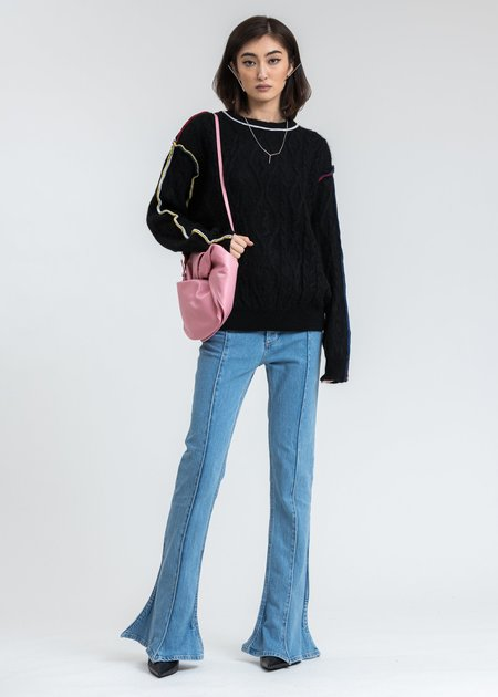 Y/project Braid Overlock Sweater - Black