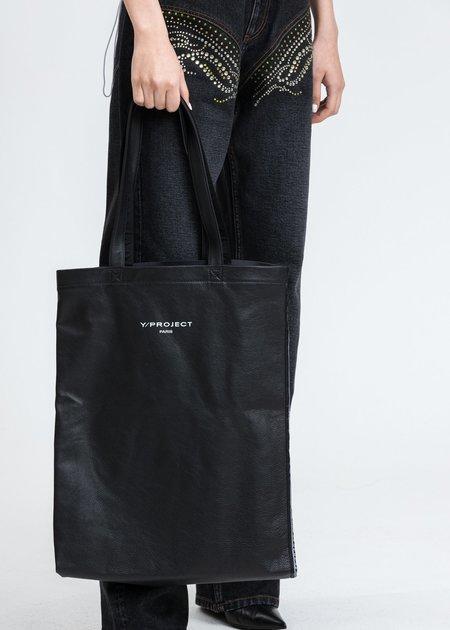Y/project Scarf Print Tote Bag - black