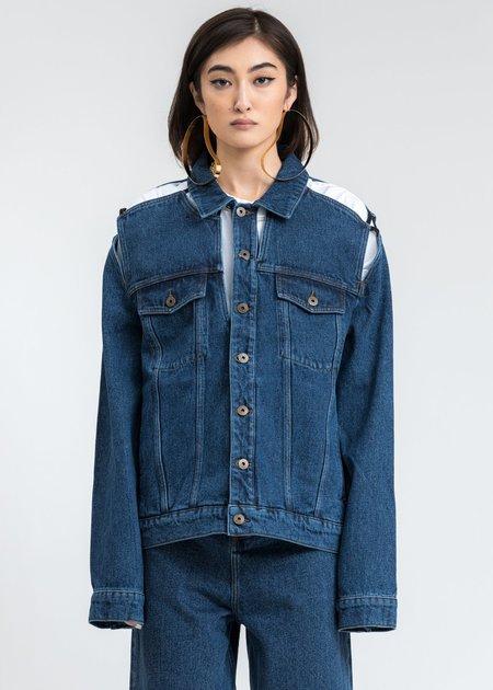 Y/project Denim Classic Peep Show Jacket - Blue