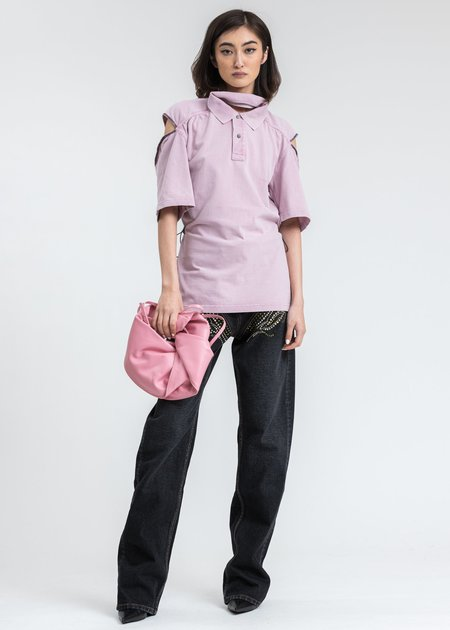 Y/project Convertible Polo top - Pink