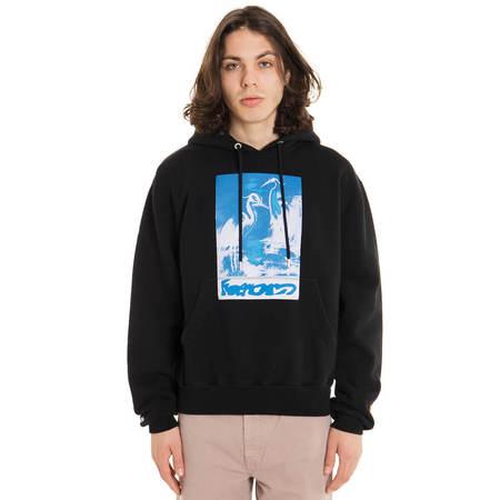 HERON PRESTON Herons Captcha hoodie - black