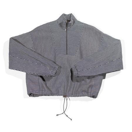 Nomia Zip Front Pullover - Indigo/White
