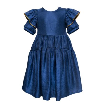 Kids Paade Mode Queen Dress - Mira Blue
