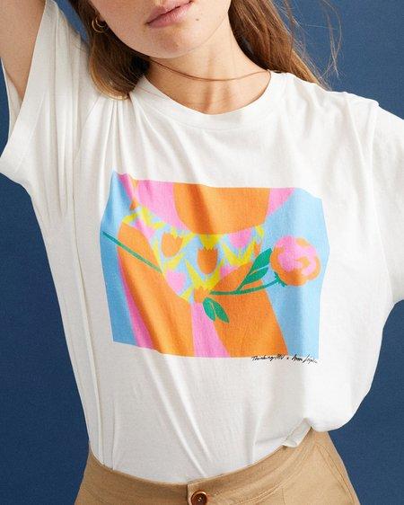 Thinking MU Camiseta Tulipan - White