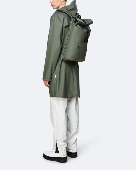 uniesex Rains Roll Top Rucksack backpack - Olive
