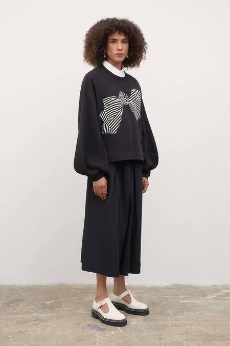 Kowtow Bow Print Sweater - Black