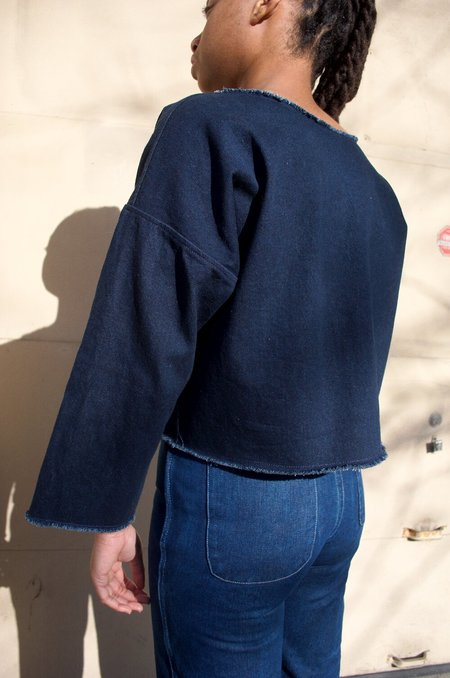 Cocobolo Long Sleeve Tunic Blouse - Denim
