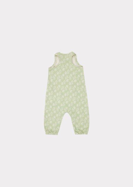 kids Caramel Swordfish Baby Romper - Mint Print