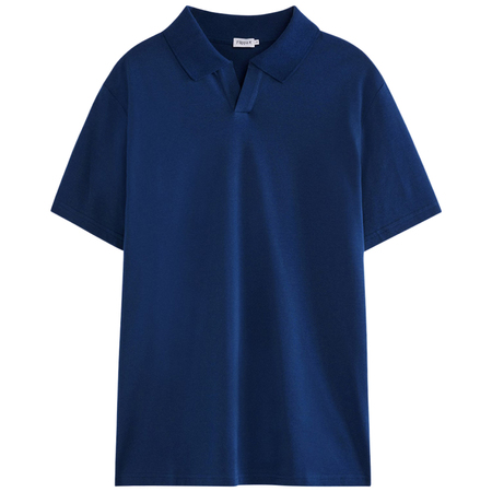 Filippa K lycra polo tee shirt - Marine Blue